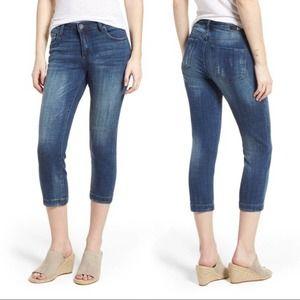 Kut from the Kloth Lauren Crop Straight Jeans